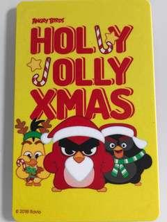Limited edition brand new Angry Birds Holly Jolly Xmas nets flash pay card for sale