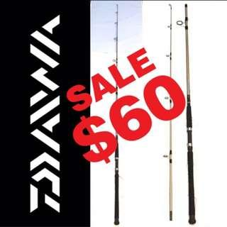 """NEW - 8' 0"""" Daiwa PROCYON Surf, Boat & Pier Spinning Rod - Line Wt.: 10-30 Lbs. - 2 Piece Rod - No Bags."""