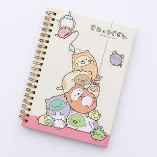 PO Cute Japanese Sumikko Gurashi Characters Pilling Up / Gathering Together Printed Note Book Notebook 3 Designs