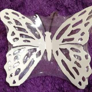 New:White butterfly display