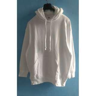 Uniqlo White Pullover Hoodie