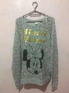 Forever 21 Floral Minnie Mouse Pullover