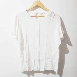 Mango frill sleeves chiffon blouse