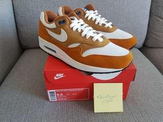 STEAL DEAL Retail $229 Brand New Nike Air Max 1 Retro Curry US9.5/UK8.5