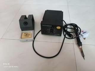 Working Soldering Station with Stand