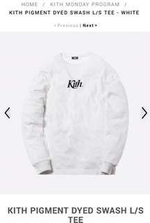Kith PIGMENT DYED SWASH Long sleeve t shirt