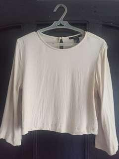 Forever 21 - Cream-colored crop top