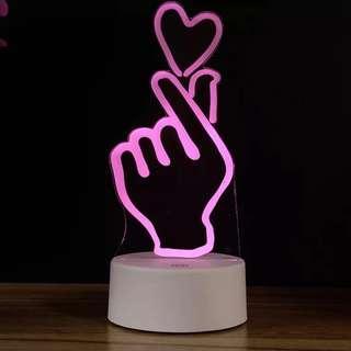 Acrylic colorful night lamp.