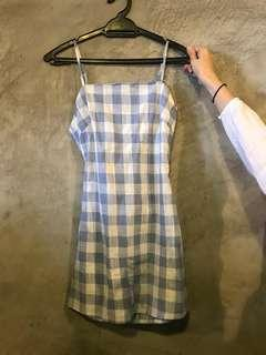 baby blue checkered dress