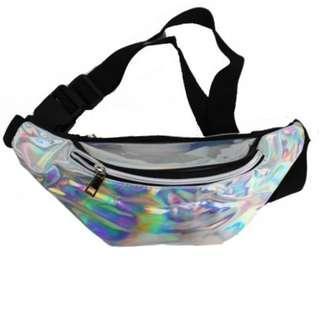 🚚 holographic Fanny pack sling bag