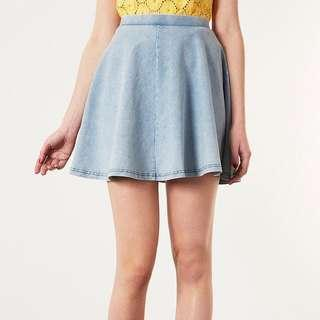 TOPSHOP denim skater skirt