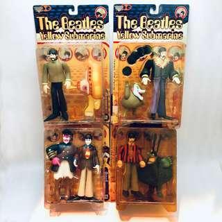 McFarlane Beatles Yellow Submarine Action Figures, 1999 series 1  (John Paul George Ringo)