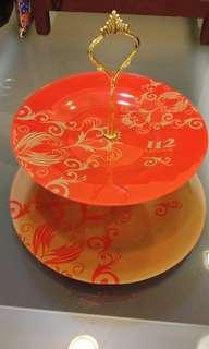 Lovely Serving Tray (I12Katong Logo -  Glass Material)