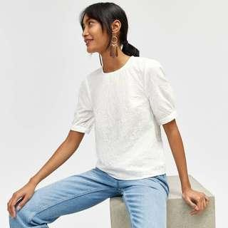 Stradivarius puff sleeves top (inspo when worn only)