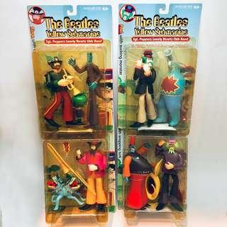 McFarlane Beatles Yellow Submarine Action Figures, 1999 series 2 (John with the Bulldog, George with Snapping Turk, Ringo with Apple Bonker, Paul with Sucking Monster)
