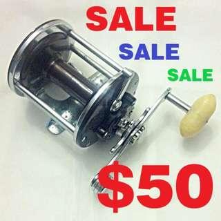 USED - Vintage PENN Monofil No. 25 Conventional Saltwater Fishing Reel - Made In USA (Pls Read Description)