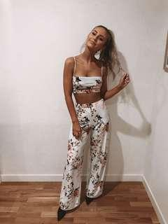 PLT Two Piece Velvet Floral Set