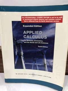 🚚 二手原文書 應用微積分 Applied Calculus / Hoffmann / Bradley / Tenth Edition / McGraw Hill