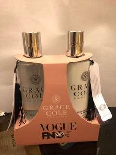 英國香氛世家 Garce Cole 身體護理組 含 沐浴露 身體乳 英國梨與白桃