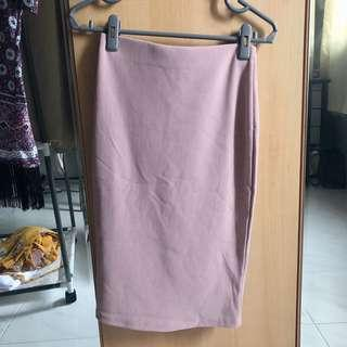 TEMT Dusty Pink Pencil Skirt
