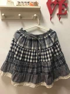 Preloved Checked skirt from Japan
