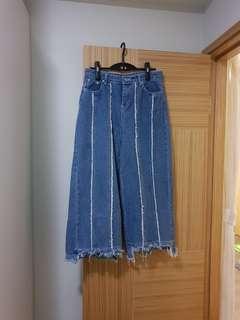 新款 型格流蘇直筒 牛仔褲
