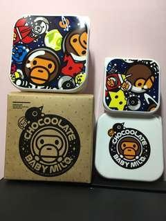 全新Chocolate 食物盒,一套三件,New Chocolate Food container box, 3boxes in 1 set