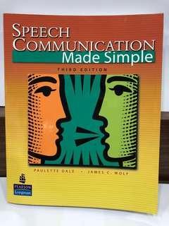 🚚 二手原文書 Speech Communication Made Simple / Third Edition / Pearson Longman