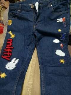 🚚 miffy低腰緊身M號造型牛仔褲