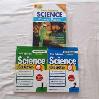 [ wts ] lower sec science guides and assessment books