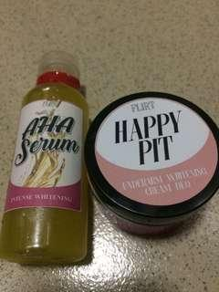 REPRICED! AHA Serum & Happy Pit All In One