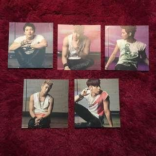 2PM - Hands Up Photo Card (Junsu, Nickhun, JunHo, Wooyoung, Chansung)