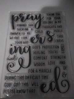 BN prayer stamp set