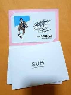 [SALE] Super Junior Donghae SUM Bday card 2017 (Limited ed.)