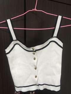 🚚 細肩短板排扣針織背心