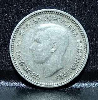 1939年澳大利亞3PENCE 佐治六世像