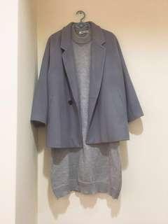 🚚 NET 藍灰色大衣 8號(L)
