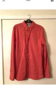 Lacoste live red shirt