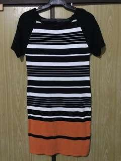 Knitted Stripes Bodycon Dress
