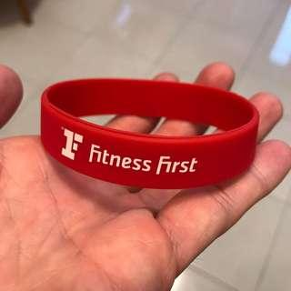 Fitness first bracelet rubber