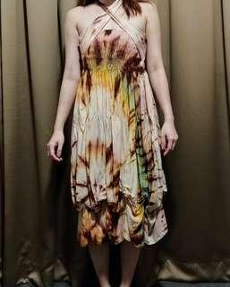 🚚 Off Shoulder Floral Batik Dress