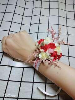 🚚 手腕花(婚禮專用)(獨創乾燥花+仿真花)