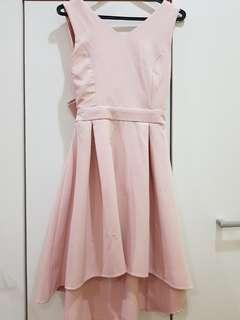 (NEW)Low high pink dress