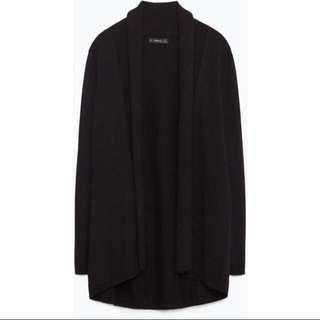 Zara Black Drape Cardigan #OCT10