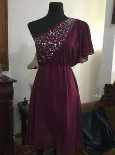 cinderella purple semi formal dress