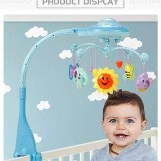 Marumine Baby Rattles Mobiles Toy Holder Rotating Crib Bed Bell With 50 Music Projection