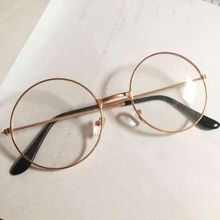 Faux rose gold glasses