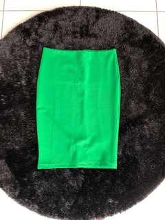 Midi Skirt Green - Strech
