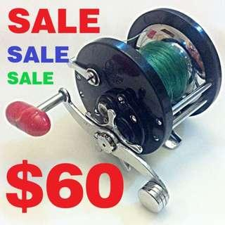 USED - Vintage PENN DELMAR No. 285 Conventional Saltwater Fishing Reel - Made In USA (Pls Read Description)