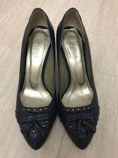 Joy & Peace 深藍色 尖頭高跟鞋 navy high heels